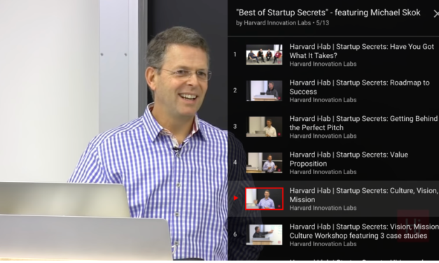 best Startup Secret workshops from the Harvard i-lab